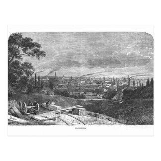 Vista de Manchester grabada por T Gustyne Postal