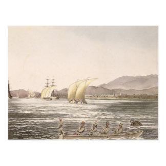 Vista de Manila, Filipinas, 1826 Tarjeta Postal
