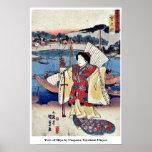 Vista de Miya por Utagawa, Toyokuni Ukiyoe Posters