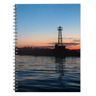 Vista de Montevideo en el amanecer, Uruguay Libro De Apuntes Con Espiral