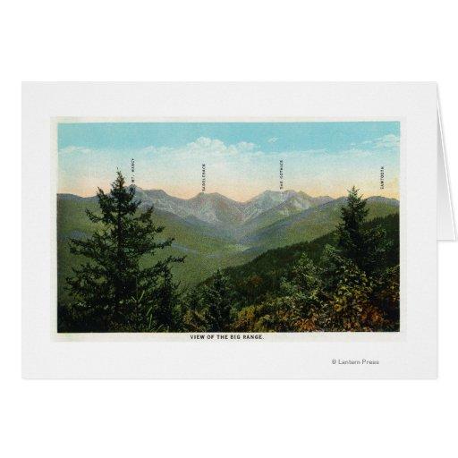 Vista de Mt. Marcy, ensillada, diente de sierra Tarjeta De Felicitación