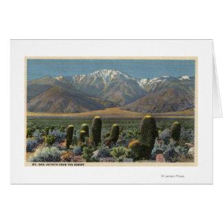 Vista de Mt. San Jacinto cerca del Palm Springs Tarjeta