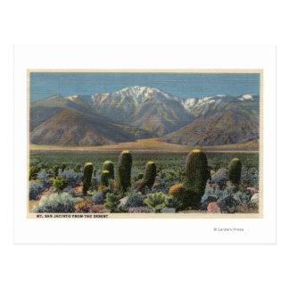 Vista de Mt. San Jacinto cerca del Palm Springs Tarjetas Postales