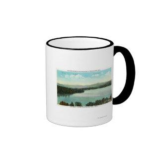 Vista de Mts. Marcy, Colden, y McIntyre Tazas De Café