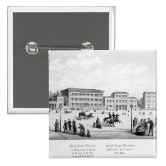Vista de Munich, 1869 Pin Cuadrado