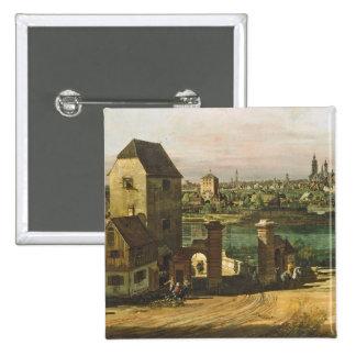 Vista de Munich, C. 1761 (aceite en lona) Pin Cuadrado