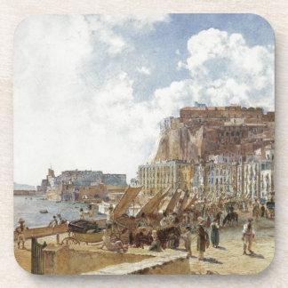 Vista de Nápoles de Rudolf von Alt Posavasos De Bebidas