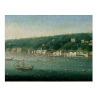 Vista de Nápoles del este, 1730 Tarjeta Postal