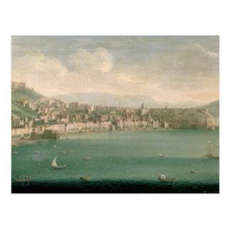 Vista de Nápoles del oeste, 1730 Tarjetas Postales