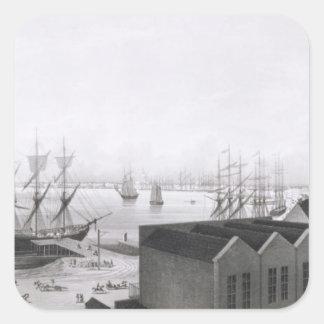 Vista de New Orleans tomada de la banda más baja Pegatina Cuadrada