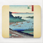 Vista de Niigata por Utagawa, Hiroshige Alfombrillas De Ratones
