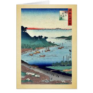 Vista de Niigata por Utagawa, Hiroshige Tarjeta De Felicitación