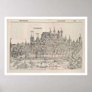 Vista de Nuremberg de la crónica de Nuremberg (145 Póster