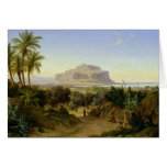 Vista de Palermo con el soporte Pellegrino Tarjetón
