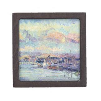 Vista de París (aceite en lona) Caja De Recuerdo De Calidad