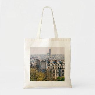 Vista de París de la colina de Montmartre Bolsa Tela Barata
