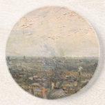 Vista de París de Montmarte de Vincent van Gogh Posavasos Cerveza