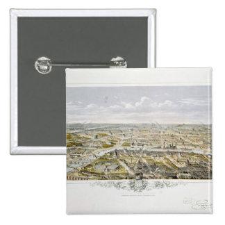 Vista de París del Bois de Boulogne Pin Cuadrado