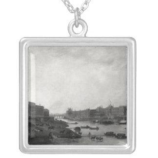 Vista de París del Pont-Neuf, c.1800 Colgante Cuadrado