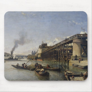 Vista de París del Sena o del l Estacade 1853 Tapete De Ratones