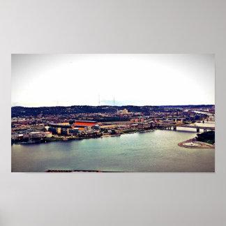 Vista de Pittsburgh de la pendiente Póster