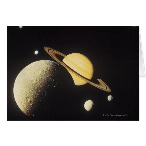 vista de planetas en la Sistema Solar Felicitacion