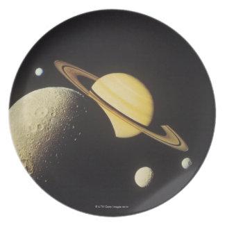 vista de planetas en la Sistema Solar Plato De Comida