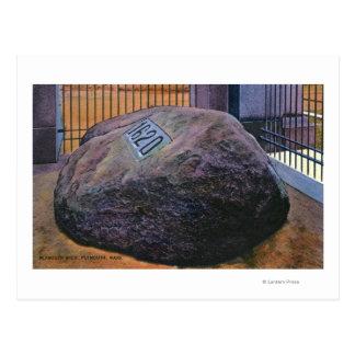 Vista de Plymouth Rock real Tarjetas Postales