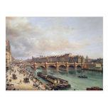 Vista de Pont Neuf, 1832 Tarjeta Postal