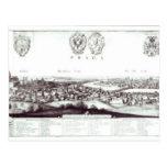 Vista de Praga, 1649 Tarjetas Postales