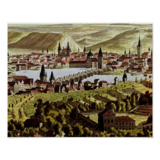 Vista de Praga Póster
