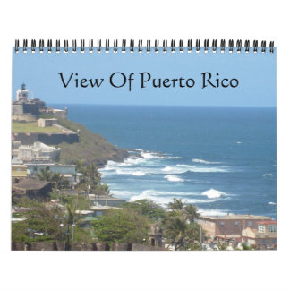 Vista de Puerto Rico Calendarios