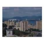Vista de Pyongyang, Corea del Norte Postales