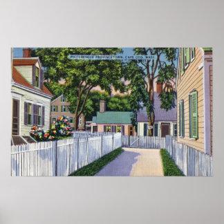 Vista de residencias pintorescas póster