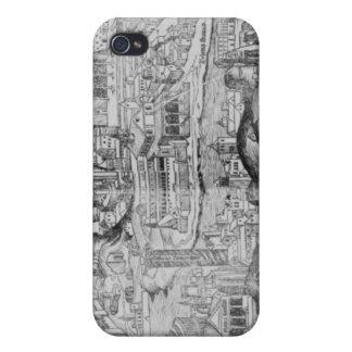 Vista de Roma, 1493 iPhone 4 Funda