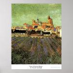 Vista de Saintes-Maries de Vincent van Gogh Poster