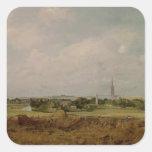Vista de Salisbury Pegatina Cuadrada