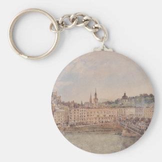 Vista de Salzburg de Rudolf von Alt Llavero Redondo Tipo Pin
