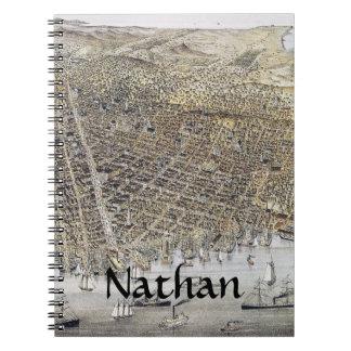 Vista de San Francisco, 1878 Libreta Espiral