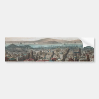 Vista de San Francisco (pegatina 1860Bumper Pegatina Para Auto
