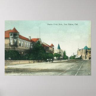 Vista de Santa Cruz AvenueLos Gatos, CA Poster