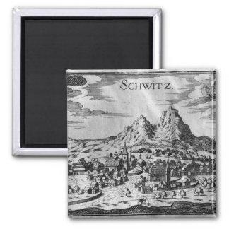 Vista de Schwyz Imán Para Frigorífico