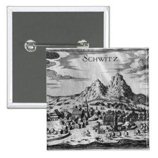 Vista de Schwyz Pin Cuadrado