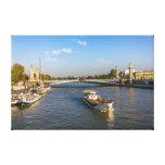 Vista de Sena en París en un día de verano Impresión En Lona