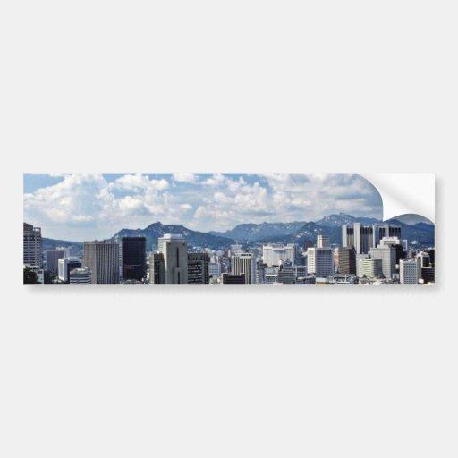 Vista de Seul céntrica Etiqueta De Parachoque