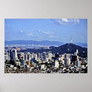 Vista de Seul de Ansan Póster