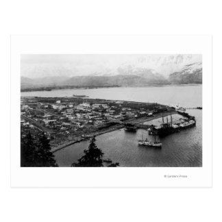 Vista de Seward, Alaska de la fotografía del aire Tarjetas Postales