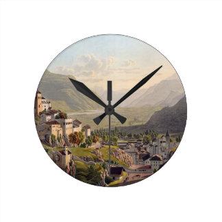 Vista de Sion, ejemplo del 'viaje Pittoresqu Reloj Redondo Mediano