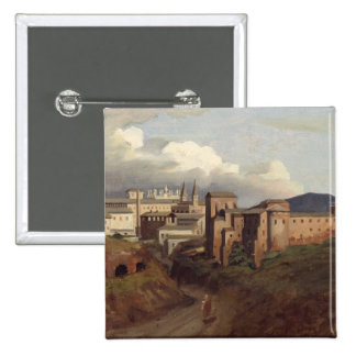 Vista de St. John Lateran, Roma, 1822 Pin Cuadrado