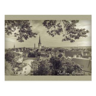 Vista de Tallinn de Toompea CC0210 Postal